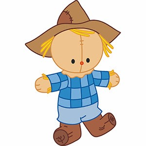 300x300 Cute Scarecrow Clipart Free