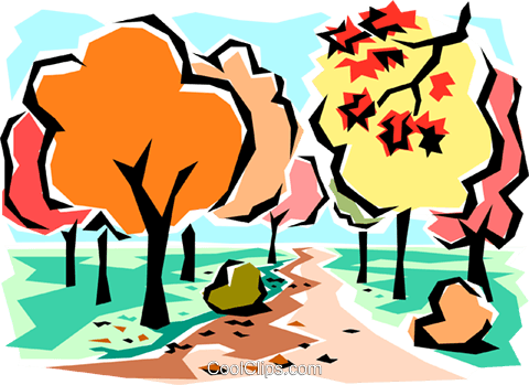 480x349 Fall Scene Royalty Free Vector Clip Art Illustration Natu0002