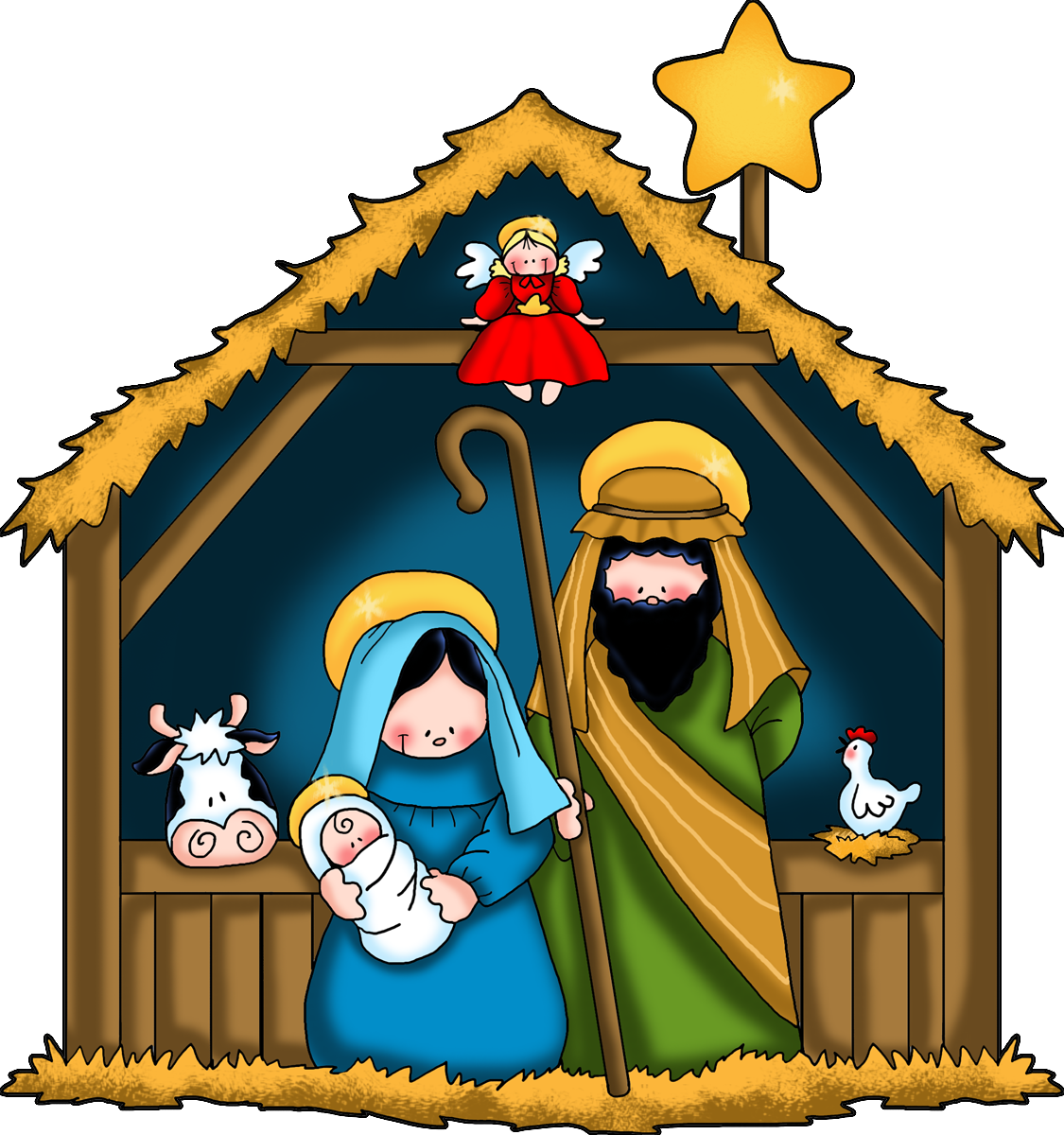 1125x1200 The Nativity Children Free Clip Art