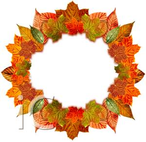 300x292 Wreath Of Autumn Leaves