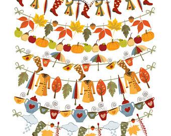 340x270 Autumn Clipart Scarecrows. Digital Autumn Fall Clip Art. Leaf