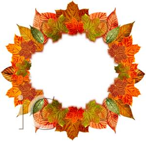 300x292 Clipart Picture Of A Fall Leaves Wreath