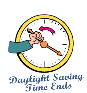 280x300 Collection Of Clipart For Daylight Savings Time Fall Back