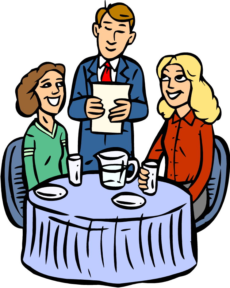 750x938 Family Dining Clipart