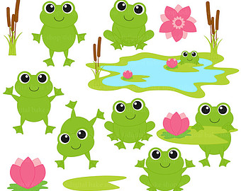 340x270 Frog Family Clipart