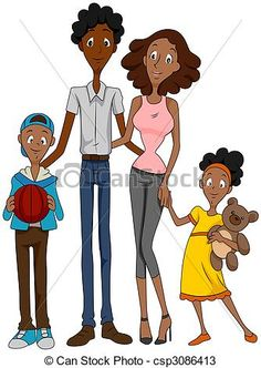 236x332 African American Family Clip Art African American Family Royalty