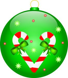 263x300 Clip Art Illustration Of A Christmas Ornament Decorated With Candy