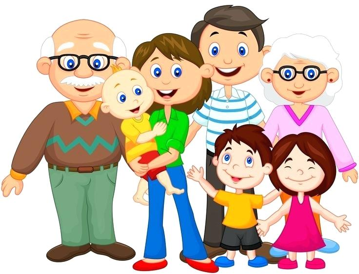 736x562 Families Clip Art Family Illustration Of A Family On A White