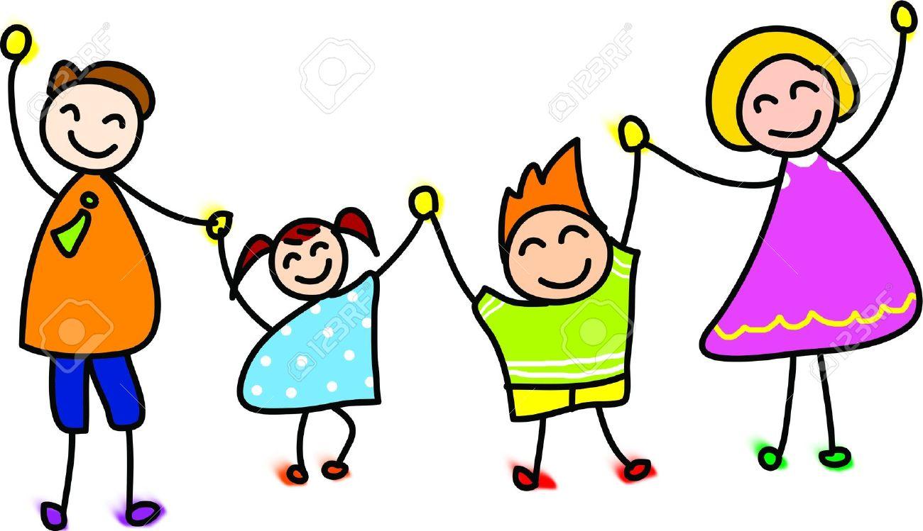 1300x749 Happy Family Cartoon Clipart