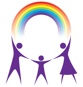285x300 Happy Family Holding A Rainbow In Your Hands Vector Free Images