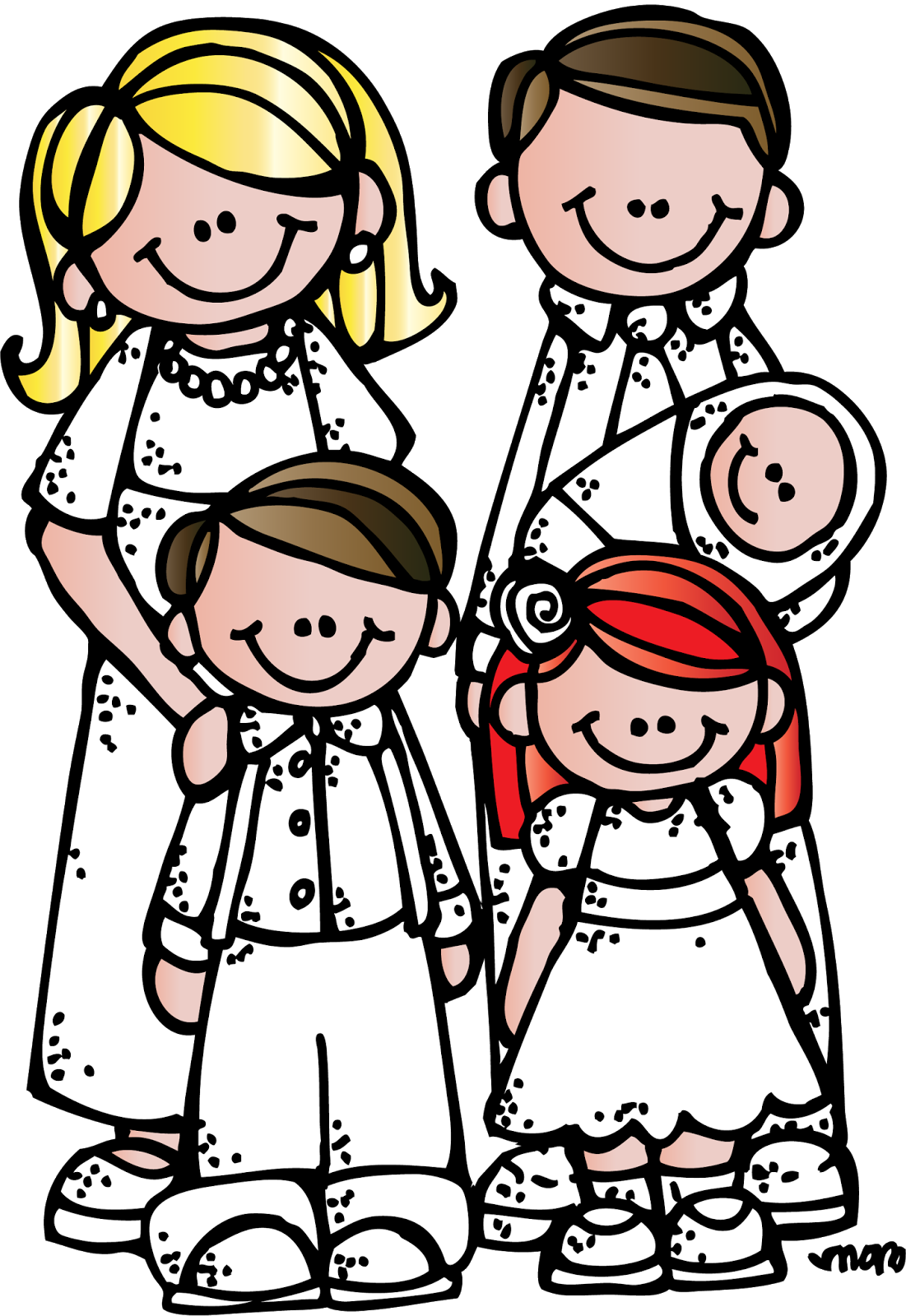 1101x1600 Image Of Extended Family Clipart