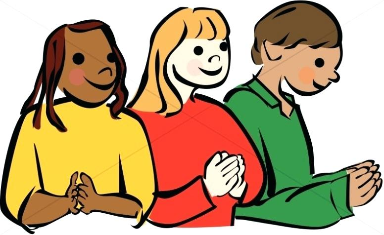 776x476 Praying Clip Art Culturally Diverse Children Praying Family