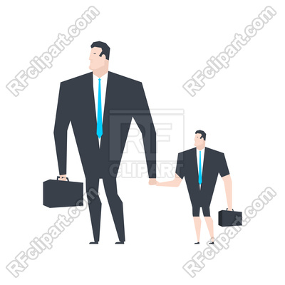 400x400 Businessman And Son. Business Family. Royalty Free Vector Clip Art