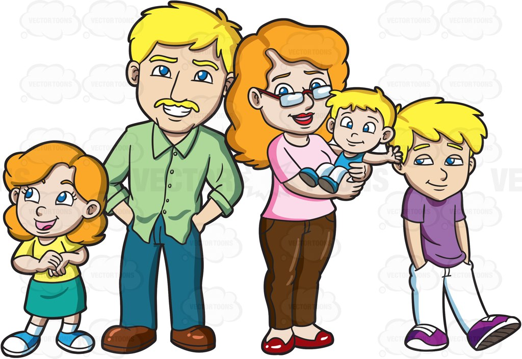 1024x703 Animated Family Clipart Group