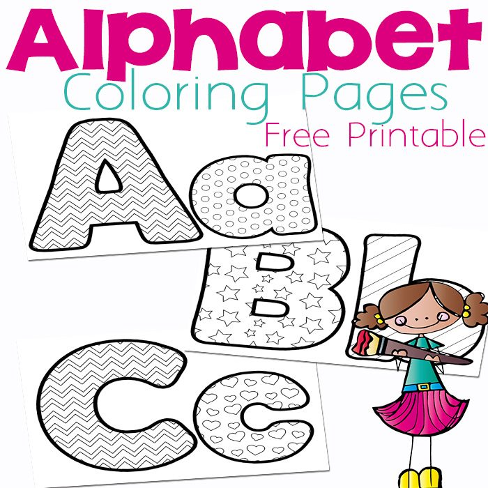 700x700 Free Alphabet Coloring Pages