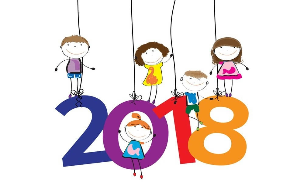 1000x600 Printable New Year 2018 Coloring Pages