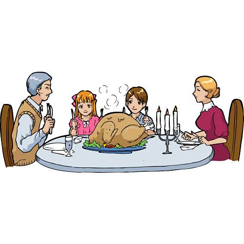 500x500 Dinner Table Clip Art Family Dinner Table Cli 15977