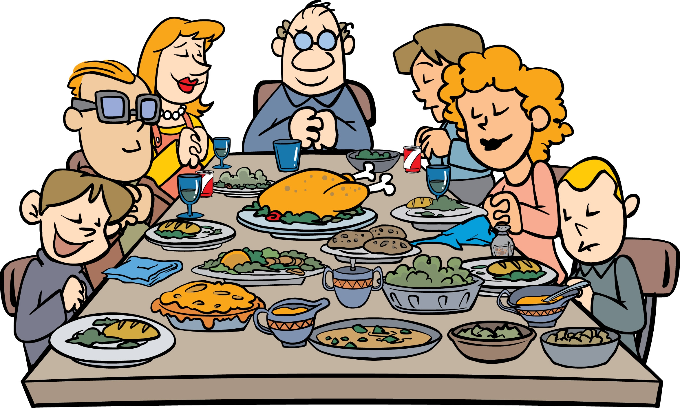2348x1409 Collection Of Family At Thanksgiving Dinner Clipart High