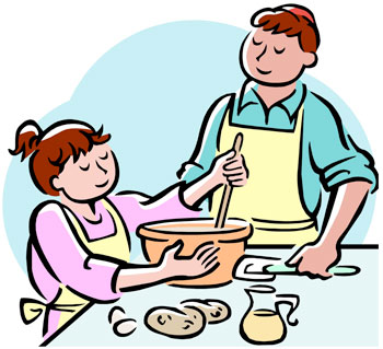 350x319 Help To Cook Dinner Clipart