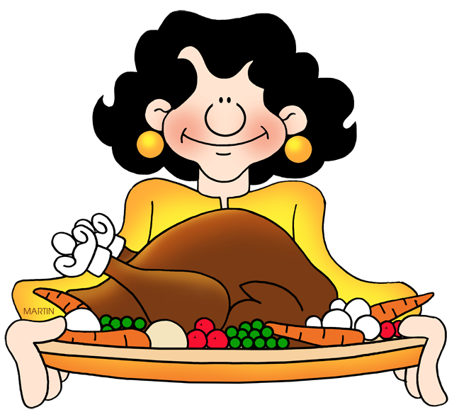 648x582 Thanksgiving Feast Clipart
