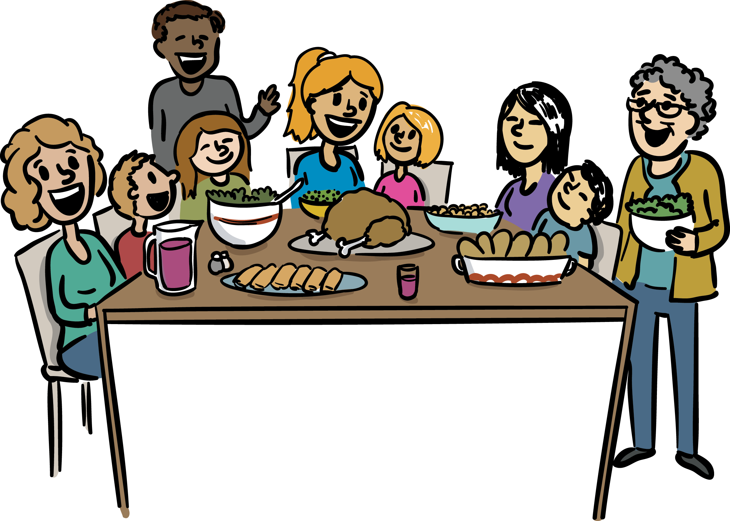 Family Dinner Clipart at GetDrawings | Free download