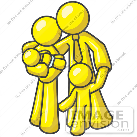 450x450 Clip Art Graphic Of A Yellow Guy Character Family