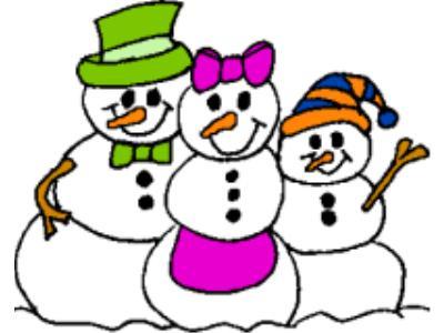400x300 Clipart Snowman Family