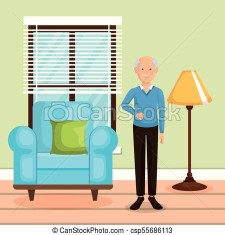 450x470 Family Member In The Living Room Vector Illustration Design Vector