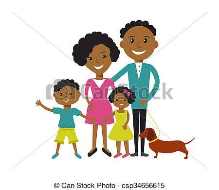 450x391 Happy African American Family Of 4 Members Parents,their