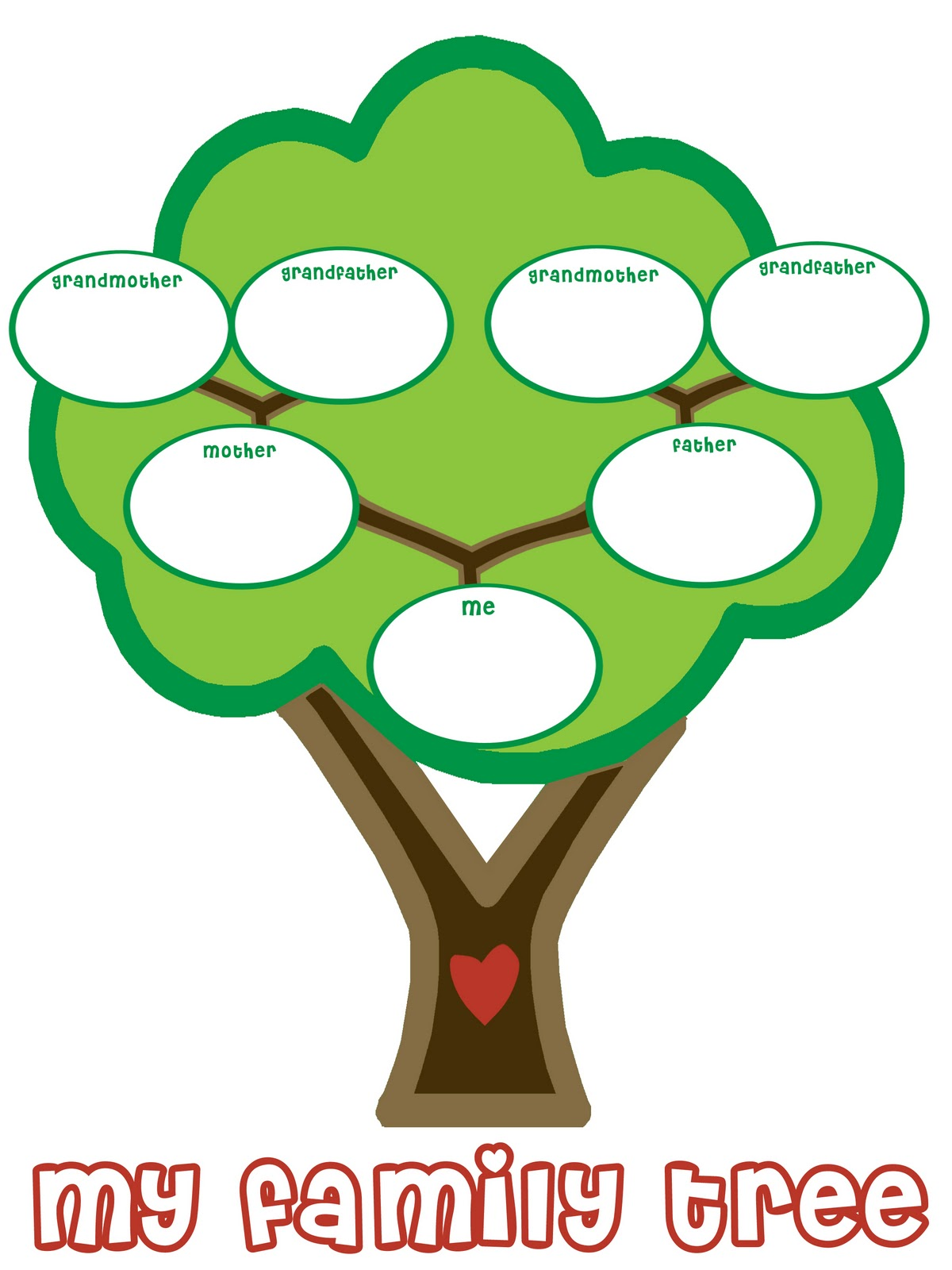 1200x1600 Interesting Pictures Of A Family Tree Printable Fill In Clipart