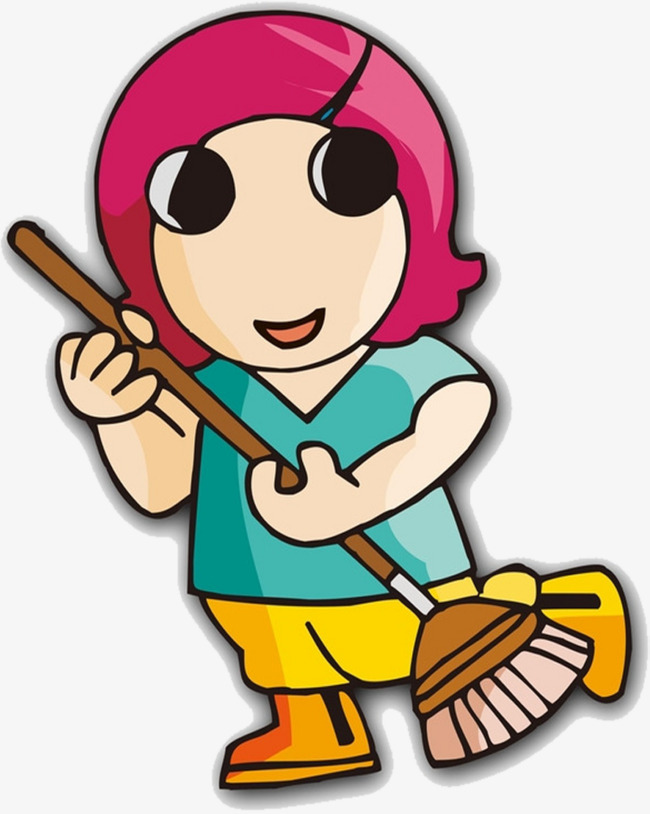 650x814 Sweeping Maids, Maids, Family Members, Family Service Staff Png