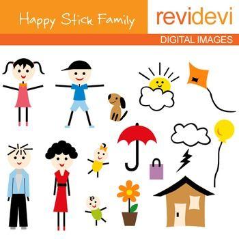 350x350 5 Family Members Clip Art