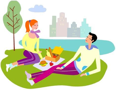 471x366 Family Picnic Clipart