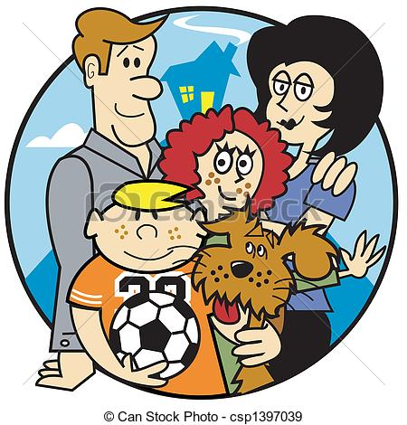 450x470 Family Mom Dad Kids Clip Art. Family Of Mom, Dad And Kids Eps