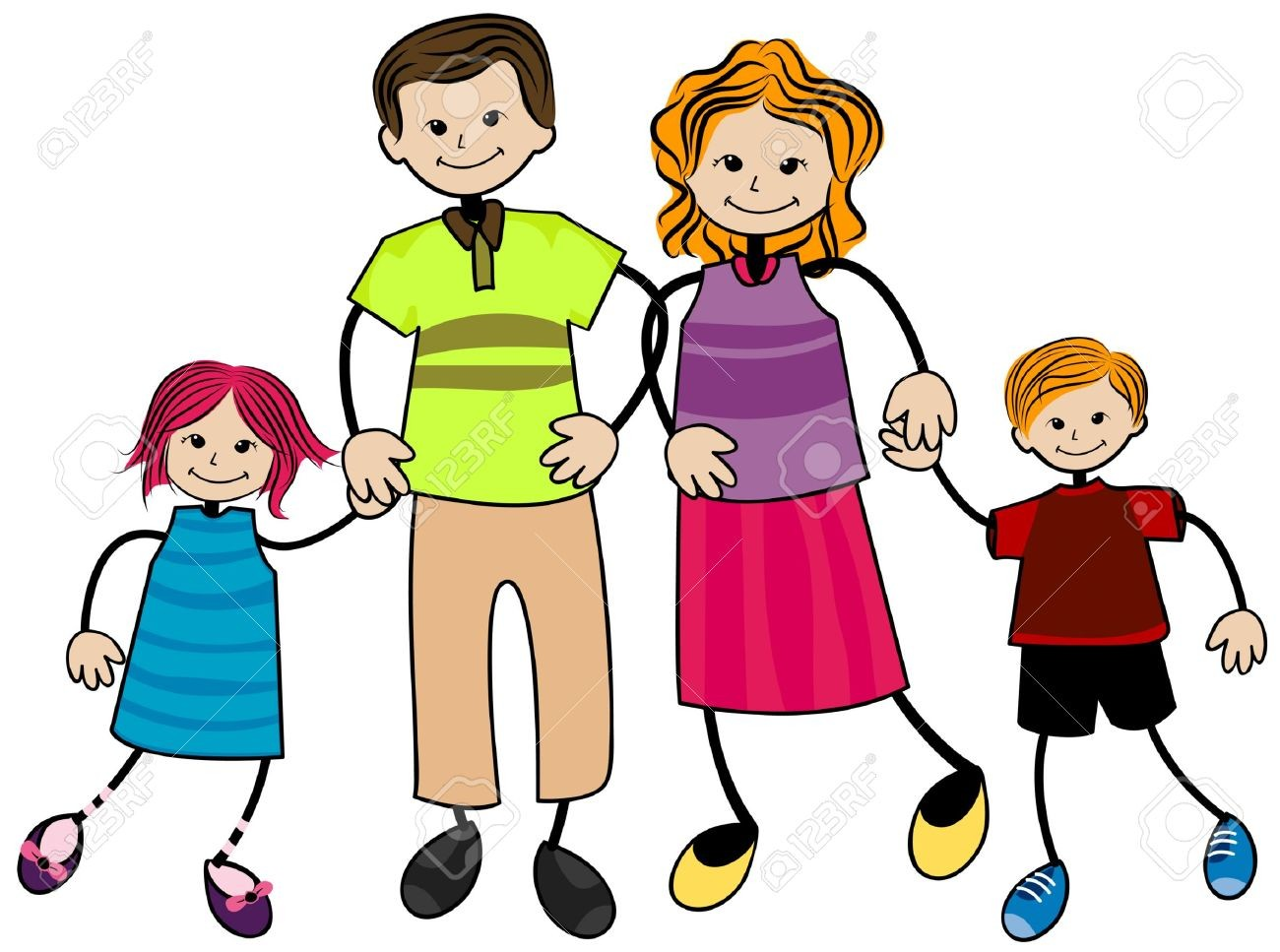 1300x967 Family Members Happy Together In One Shot Royalty Free Cliparts