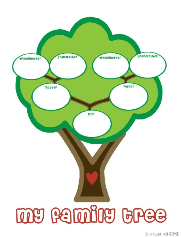 Family Tree Clipart on Banana Clip Art
