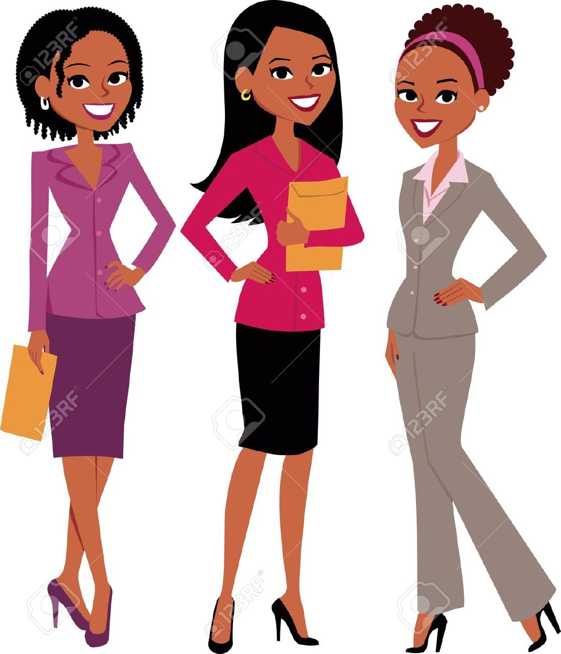 1115x1300 African American Businesswoman Clipart