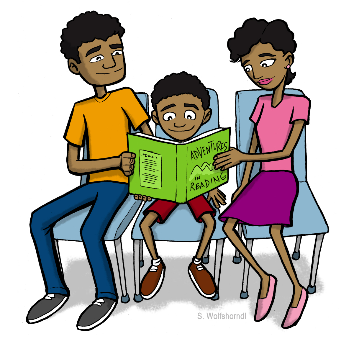 1200x1200 African American Clipart Family Free