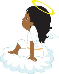 240x300 Angel Clipart African American