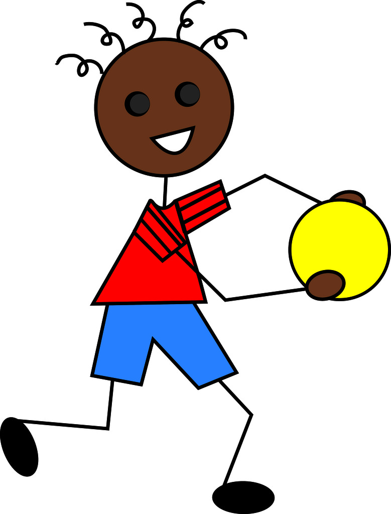 779x1024 Clip Art Illustration Of A Cartoon African American Boy Playing