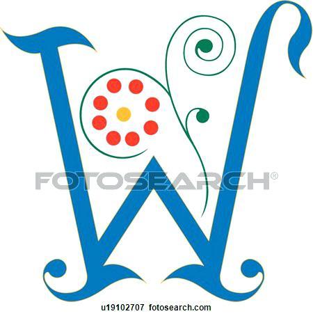 450x454 Fancy Letters Clip Art Fancy Letter W Fancy Alphabet Clipart