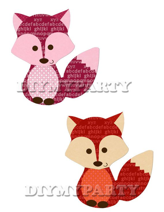 570x738 Printable Party Decor Foxes Clip Art Foxes Clipart Birthday