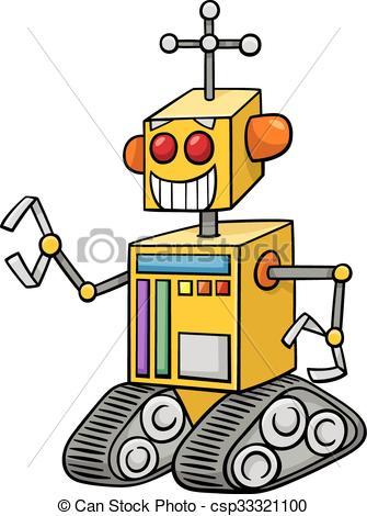 335x470 Robot Fantasy Character Cartoon. Cartoon Illustration Of Vector