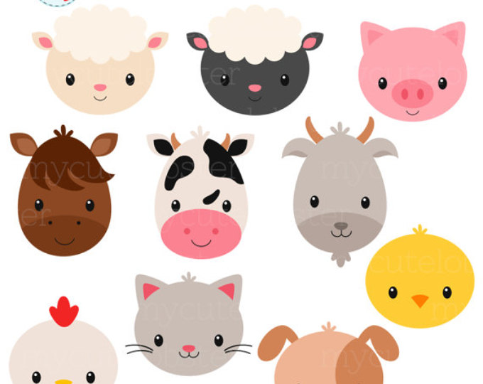 680x540 Head Clipart Farm Animal Clipart Farm Animal Head Clipart Animal