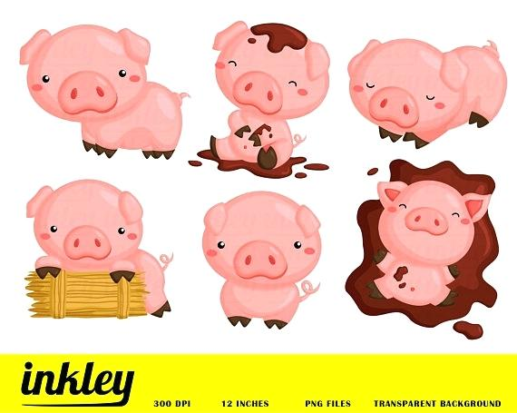 570x455 Cute Pig Clip Art Pigs Happy