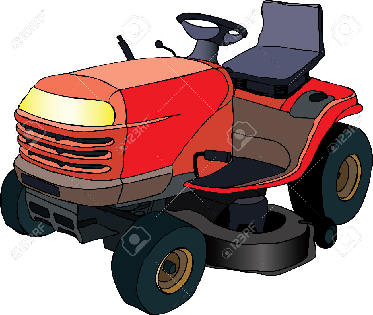 1300x1099 Tractor Clipart Lawn Mower
