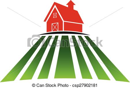 450x306 Farm House With Field Logo. Farm House With Field Vector