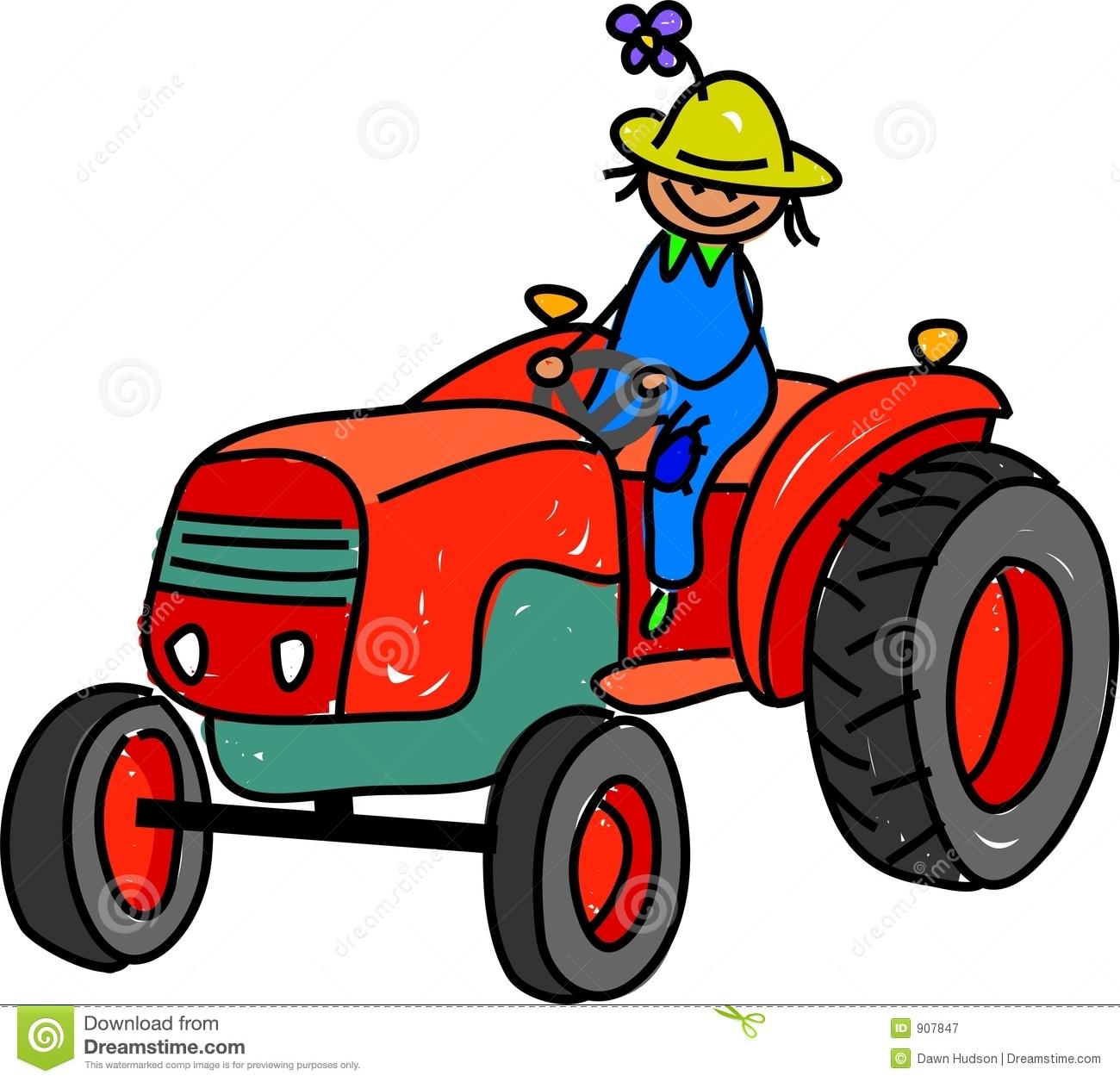 Farm Tractor Clipart