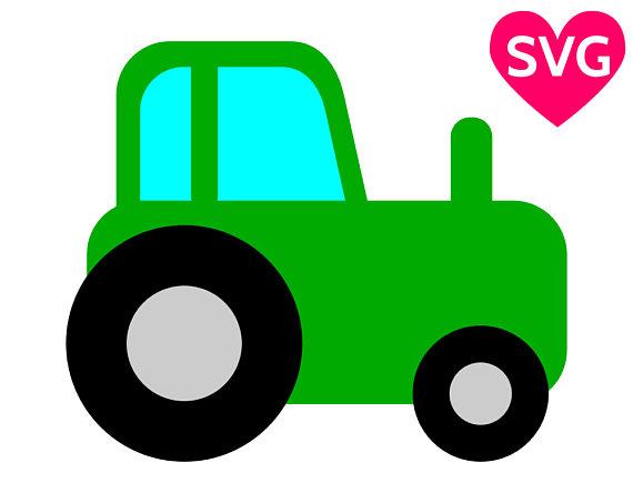 570x453 Tractor Svg File For Cricut Amp Silhouette, Farm Tractor Clipart