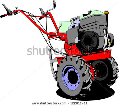 450x401 Walking Tractor Clipart